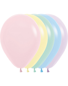 Pastel Matte Assortment Latexballon Rund 11in/27.5cm
