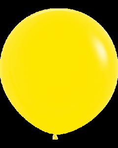 Fashion Yellow Latexballon Rund 24in/60cm
