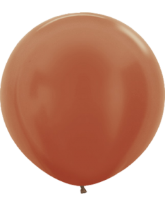 Metallic Copper Latexballon Rund 24in/60cm