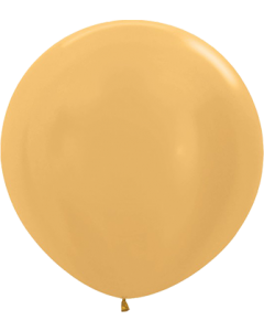 Metallic Gold Latexballon Rund 24in/60cm