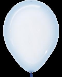 Crystal Pastel Blue Latexballon Rund 11in/27.5cm