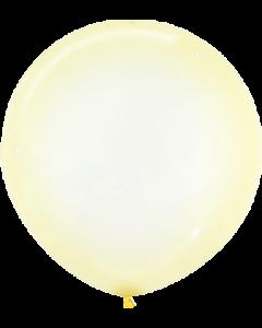 Crystal Pastel Yellow Latexballon Rund 24in/60cm