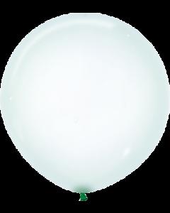 Crystal Pastel Green Latexballon Rund 24in/60cm