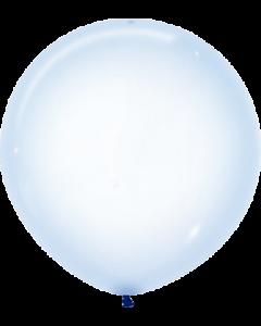 Crystal Pastel Blue Latexballon Rund 24in/60cm