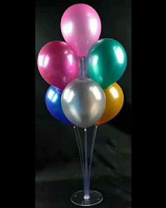 Tisch Ballonständer Transparent 1x70cm, 3x60cm, 3x40cm