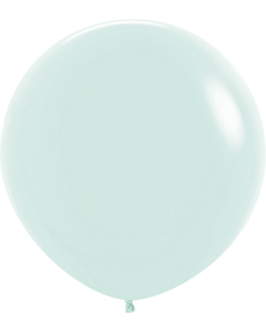 Pastel Matte Green Latexballon Rund 24in/60cm