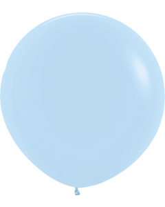 Pastel Matte Blue Latexballon Rund 24in/60cm
