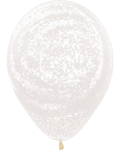 Crystal Graffiti White Latexballon Rund 11in/27.5cm