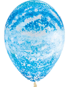Crystal Graffiti Blue Latexballon Rund 11in/27.5cm