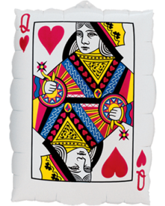 Queen Of Hearts - Ace Of Spades Folienfiguren 30in/75cm