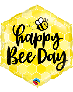 Happy Bee Day Folienform Hexagon 20in/50cm