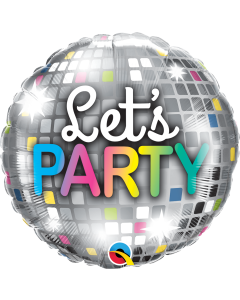 Let's Party Disco Ball Folienform Rund 18in/45cm