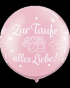 Zur Taufe alles Liebe! Pearl Pink Latexballon Rund 30in/75cm