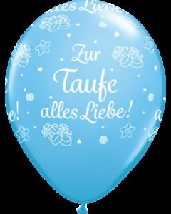 Zur Taufe alles Liebe! Standard Pale Blue Latexballon Rund 16in/40cm