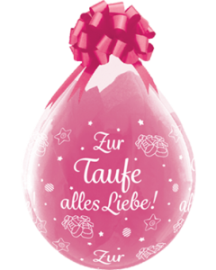 Zur Taufe alles Liebe! Crystal Diamond Clear (Transparent) Latexballon Rund 18in/45cm