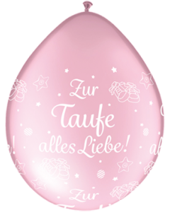 Zur Taufe alles Liebe! Pearl Pink Neck Up Latexballon Rund 5in/12.5cm