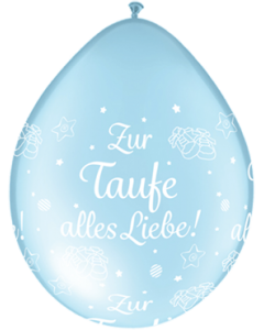 Zur Taufe alles Liebe! Pearl Light Blue Neck Up Latexballon Rund 5in/12.5cm