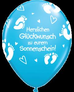 Herzlichen Glückwunsch zu eurem Sonnenschein! Fashion Robins Egg Blue Latexballon Rund 16in/40cm