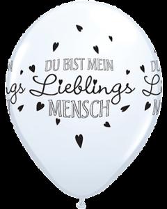 Du Bist Mein Lieblings Mensch Standard White Latexballon Rund 11in/27.5cm