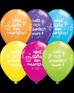 Alles Gute zum Geburtstag:) Lass Dich ordentlich feiern!! Tropical Sortiment Latexballon Rund 11in/27.5cm