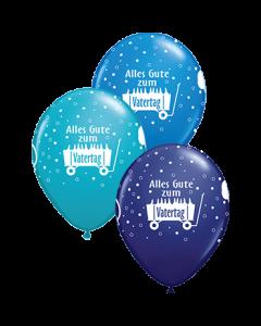 Alles Gute zum Vatertag Standard Dark Blue, Fashion Navy und Fashion Tropical Teal Sortiment Latexballon Rund 11in/27.5cm