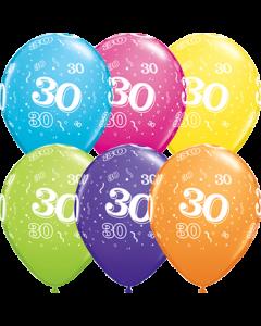 30 Tropical Sortiment Latexballon Rund 5in/12.5cm