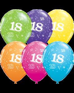 18 Tropical Sortiment Latexballon Rund 5in/12.5cm