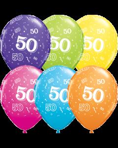 50 Tropical Sortiment Latexballon Rund 5in/12.5cm