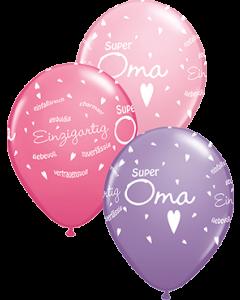 Super Oma! Standard Pink, Fashion Rose und Fashion Spring Lilac Sortiment Latexballon Rund 11in/27.5cm
