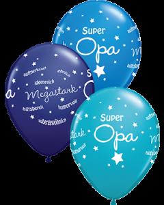 Super Opa! Standard Dark Blue, Fashion Tropical Teal und Fashion Navy Sortiment Latexballon Rund 11in/27.5cm