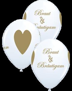 Braut & Bräutigam Standard White Latexballon Rund 11in/27.5cm