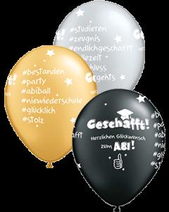 Herzlichen Glückwunsch zum Abitur Sortiment Latex Rund 11in/27.5cm