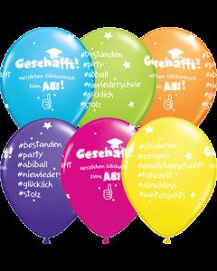 Herzlichen Glückwunsch zum Abitur Tropical Sortiment Latexballon Rund 11in/27.5cm