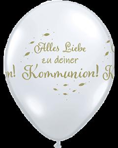 Alles Liebe Zu Deiner Kommunion Diamond Clear (Transparent) Latexballon Rund 11in/27.5cm