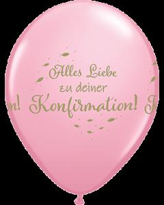 Alles Liebe Zu Deiner Konfirmation Standard Pink Latexballon Rund 11in/27.5cm