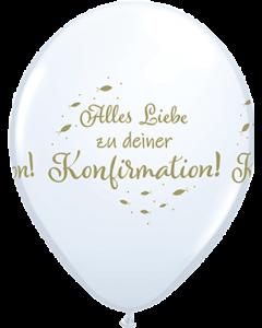 Alles Liebe Zu Deiner Konfirmation Standard White Latexballon Rund 11in/27.5cm