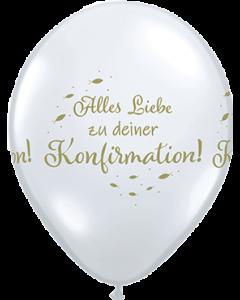 Alles Liebe Zu Deiner Konfirmation Diamond Clear (Transparent) Latexballon Rund 11in/27.5cm