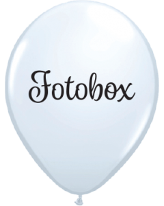 Lieblich Fotobox Standard White Latexballon Rund 11in/27.5cm