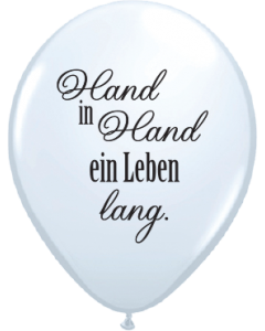 Lieblich Hand In Hand Latexballon Rund 16in/40cm
