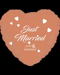 Just Married Rose Gold Folienform Herz 24in/60cm