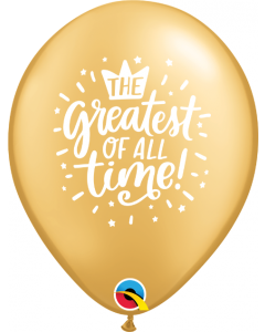 Greatest Of All Time Gold Latexballon Rund 11in/7.5cm