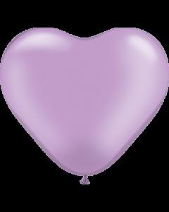 Pearl Lavender Latexherzen 6in/15cm