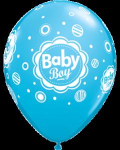 Baby Boy Dots Fashion Robins Egg Blue Latexballon Rund 11in/27.5cm