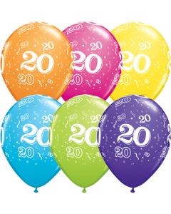 20 Retail Sortiment Latexballon Rund 11in/27.5cm