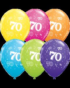70 Retail Sortiment Latexballon Rund 11in/27.5cm