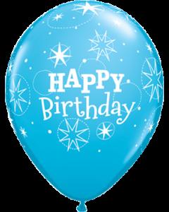 Birthday Sparkle Fashion Robins Egg Blue Latexballon Rund 11in/27.5cm