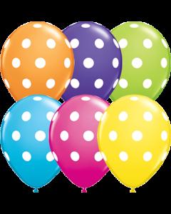 Big Polka Dots Retail Sortiment Latexballon Rund 11in/27.5cm
