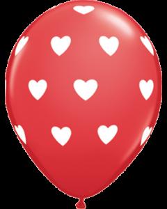 Big Hearts Standard Red Latexballon Rund 11in/27.5cm