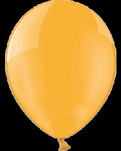 Crystal Orange (Transparent) Latexballon Rund 11in/27.5cm