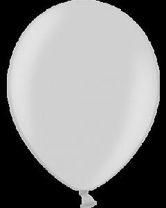 Metallic Silver Latexballon Rund 11in/27.5cm